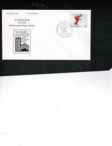 CANADA 1980 WINTER OLYMPICS DOWNHILL SKIER  FDC cat $4. #848 BOX 539