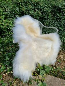 XXL Cream Extra Fluffy British Sheepskin Rug -  A+++ 115cm by 75cm (522)