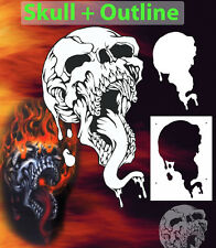 Mini Skull 7 Special Two Layer Airbrush Stencil Spray Vision Template air brush