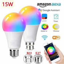15W B22 E27 WiFi Smart Bulb RGBW/W Remote Control for Amazon Alexa Google Home