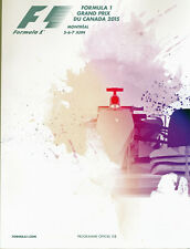 Formula 1 2015 Canadian F1 Grand Prix Program / Programme