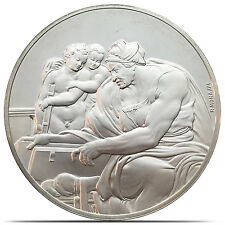 The Cumaean Sibyl Genius Of Michelangelo Proof Silver Coin 1.3 oz Franklin Mint