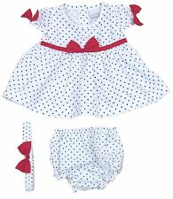 Cotton Blend Casual Spotted Dresses (0-24 Months) for Girls