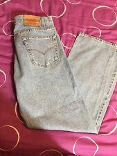 Men's Levis 505 Regular Fit Straight Leg Jeans Red Tab Denim Blue W:36 L:30 Rare