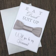 Will You Be My Groomsman Card Silver And White