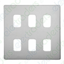 Deta G3385CH 'Ultra Screwless' Polished Chrome Grid Cover Plate with Frame - 6 G