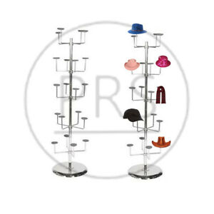 5 TIERS MILLINERY HAT SCARF CAP DISPLAY STAND SHOP DISPLAY STAND