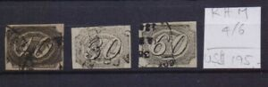 ! Brasil 1844. Stamp. RHM#4/6. $195.00!