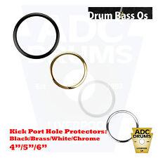 "Holz Bass Drum Skin Os Kick Head Mic Port Hole Protector: 4""/5""/6"""