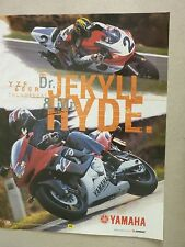 ADVERTISING PUBBLICITA' YAMAHA YZF 600 R Dr.JEKYLL & Mr. HYDE   -- 1998