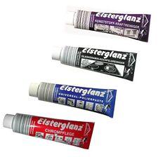 Elsterglanz  4er SET Chrom,Universal,Kunststoff,und Glaskeramik Polierpaste