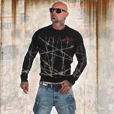 Nuevos señores yakuza barbwire suéter Sweater-negro