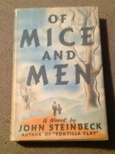 1937 Book OF MICE AND MEN By John Steinbeck 1st Edition with Dust Jacket RARE!