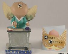 Teacher W/ Inkwell  Angel Cheeks Russ Berrie Discontinued - Limited Quantities