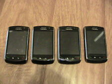 lot of 4 used RIM BlackBerry Storm 9530(Unlocked)AT&T Verizon 3G GSM Phones asis