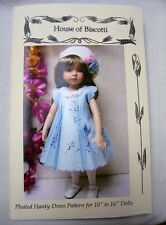 "Hanky Dress, Hat  PATTERN for 10"" to 16"" Dolls   Bleuette,  Little Darling"