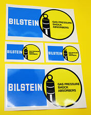 Classic Car Rally/Race BILSTEIN sticker set 2 large 2 small GLOSS LAMINATED