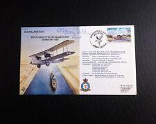 RAF B11 Flown & Signed FDC - DeHavilland D.H.10 - Triple Signed (AFTAL)