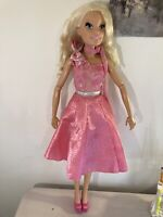 Barbie My Size Just Play 2011 Original Pink Dress Pre Owned