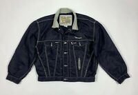 Diesel giacca uomo usato M vintage blu jacket leggera giubbino vintage T5882