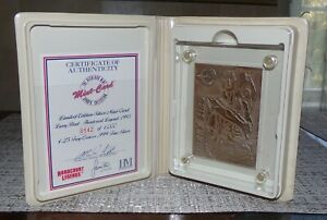 Highland Mint Larry Bird Sports Collection Card 4.25 Troy Oz .999 Silver