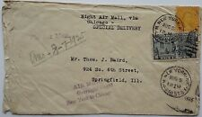 1925 OVERNIGHT FLIGHT CACHET AIRMAIL COVER FROM SUSQUEHANNA RIVER PLANE CRASH