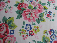 Cath Kidston Large Spray Flowers 1M 100cm square lightweight cotton fabric new