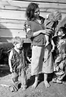 """1936 Destitute Mom with Children Vintage Old Photo 8.5"""" x 11"""" Reprint"""