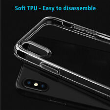 Transparent Clear Soft Rubber TPU Ultra Thin Phone Case Cover Fit For iPhone XR