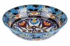 Umywalka ceramiczna nablatowa półwpuszczana ręcznie zdobiona - La Reina
