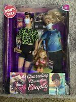 "CUSTOM OOAK ""Quarreling Quarantine Couple"" Barbie/Ken/toddler Pandemic Doll Set"