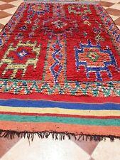 Old Vintage kilim Rug Moroccan Tribal Azilal Handmade Berber Old Carpet Wool