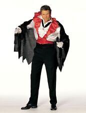 Worlock Vampire Costume Black Velvet Cape Red Collar with Vest L/XL 7525