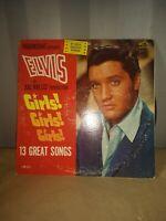 ELVIS PRESLEY - GIRLS, GIRLS, GIRLS RCA LPM-2621 PLAY SOUNDTRACK ALBUM