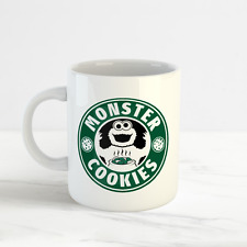Monster Cookies, Funny Starbucks Cookie Monster Fan Mug Cup, Sesame Street