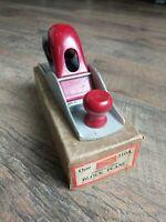Vintage Hibbard's Block Wood Plane One 310A In Original Box Cadmium Finish Tools