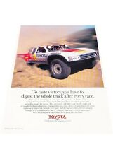 1995 1996 Toyota Truck Race Motorsport Original Advertisement Print Car Ad J448