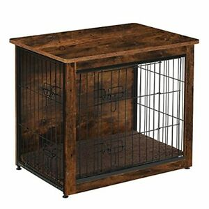 DWANTON Dog Crate Table , Wooden Crate End Table, Dog Furniture, Indoor Pet Crat