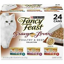 Purina Fancy Feast Gravy Lovers Wet Cat Food V Cans Poultry & Beef 24 Cans
