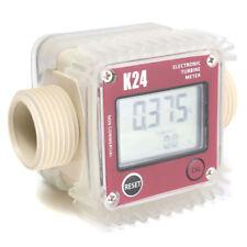 Red K24 Turbine Digital Diesel Fuel Flow Meter For Chemicals Water