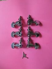 ORIGINAL GROVER CHROME TUNERS COMPLETE SET! NEW! 3x3 MACHINE HEADS MOUNTS SCREWS