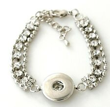 Chain Rhinestone 18-20mm Snap Charm Bracelet For Ginger Snaps Magnolia Vine