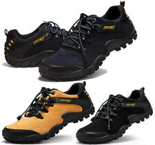 Men's Outdoor Hiking Cow Leather Shoes Athletic Running Sports Climbing Boots