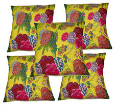 Vintage Cotton Fruit Print Pillow Case Sofa Waist Throw Cushion Cover 5pc 20x20""