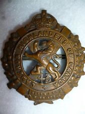 43rd Battalion CEF Cameron Highlanders Cap Badge, 43-B1 CEF WW1, Canadian Badge