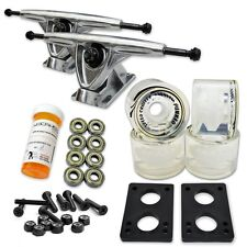 HD7 Longboard Combo set - Polished trucks (Gel Clear)