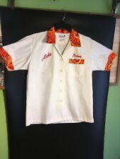 Vintage Polynesian Society of Los Angeles Samoa Tahiti Hawaiian bowling shirt
