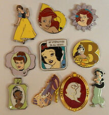 5 RANDOM DISNEY PRINCESS TRADING PIN LOT grab bag ariel cinderella snow white
