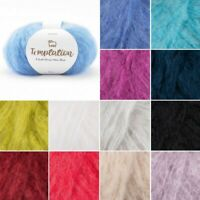 Sirdar Temptation Mohair Chunky Yarn Knitting Knit Crochet Crafts 50g Ball Wool