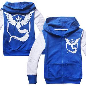 POKEMON GO Children Kids Boy Hooded Sweater Sweater shirt Zipper Coat